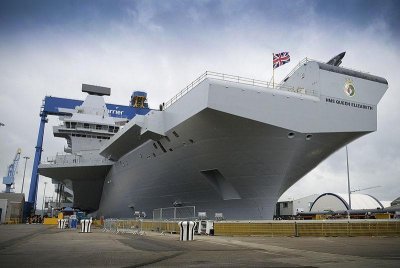Carrier hull section sent to Scotland for ship assembly process