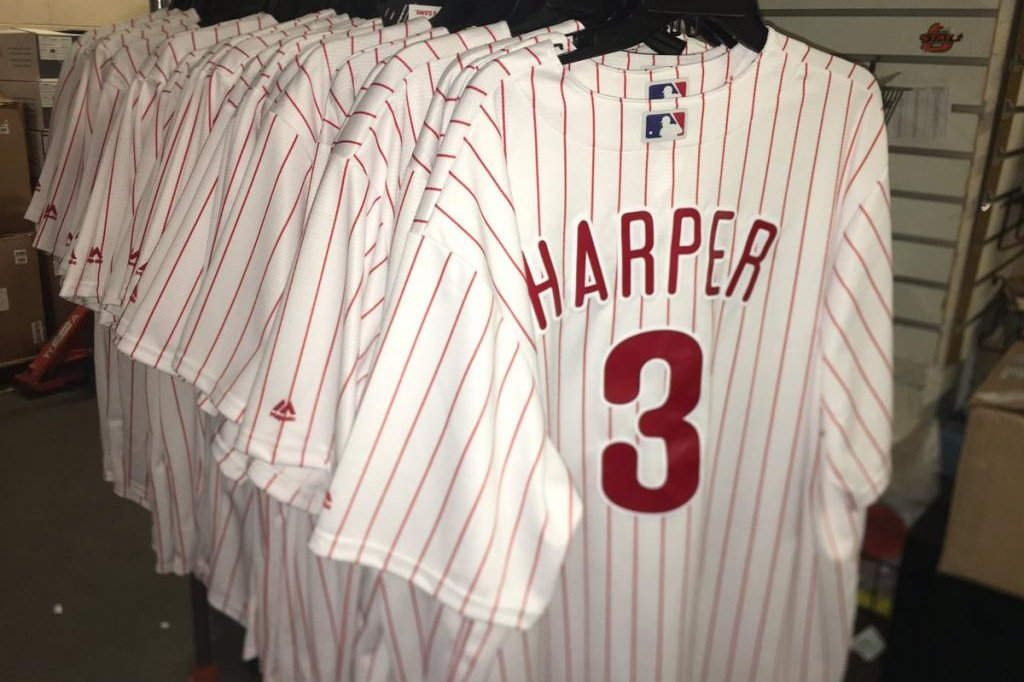 f1c9d338fe3 Bryce Harper's Phillies jersey breaks LeBron James' 48-hour sales record -  UPI.com