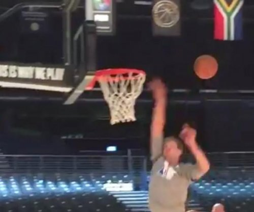 Kristaps Porzingis edges Dirk Nowitzki with epic H-O-R-S-E dunk