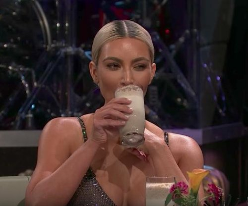 Kim Kardashian drinks sardine smoothie to dodge pregnancy question about sisters