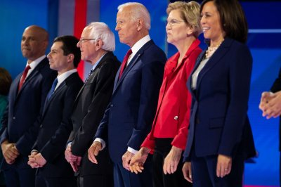 Democratic debate focuses on gun control, trade, healthcare