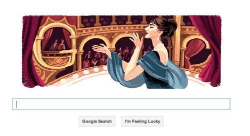 Maria Callas, Opera Diva, honored in Google Doodle