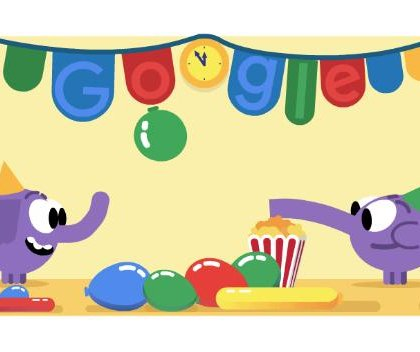 Google rings in the New Year with new Doodle