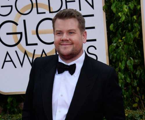 James Corden persuades Kristin Chenoweth to come out for interview with song