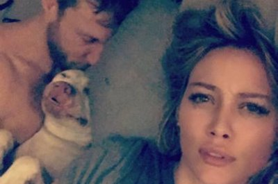 Hilary Duff posts with boyfriend Jason Walsh from bed