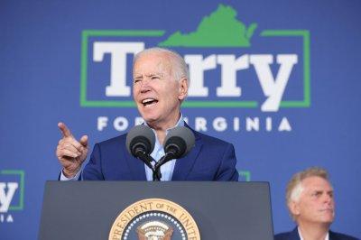 Biden stumps for ex-Virginia Gov. McAuliffe in Arlington