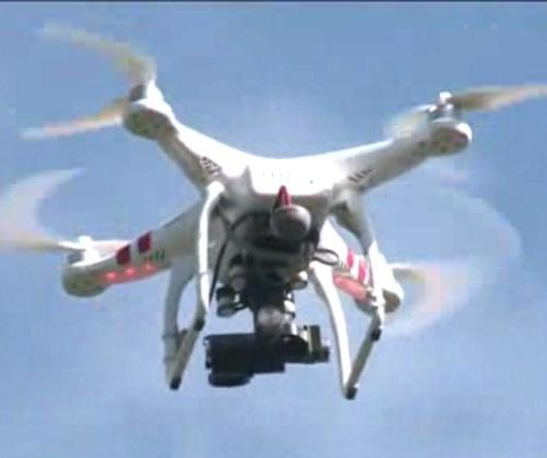 Tennessee dad uses drone to follow daughter to school