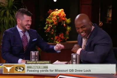 Ricky Williams cracks up after referring to himself as the 'high guy' on TV