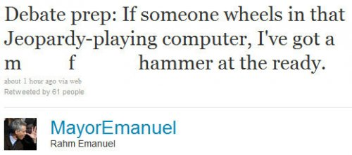 Emanuel promises cash for tweeter's name