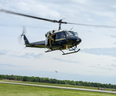 Air Force helicopter shot at midair, service member injured