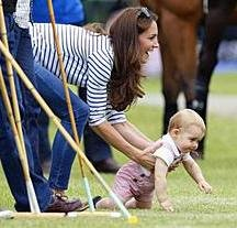 Prince George makes surprise appearance at Prince William's polo match