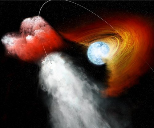 Pulsar sends stellar disk fragment speeding into space