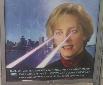 Canadian real estate agent confirms authenticity of 'laser eyes' ad