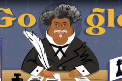 Google honors author Alexandre Dumas with new Doodle