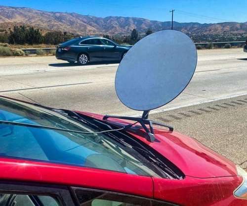 Driver pulled over in California had satellite dish mounted on hood