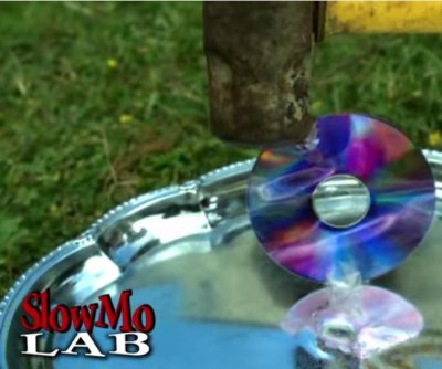 CD smashed by sledgehammer in slow motion for viral video