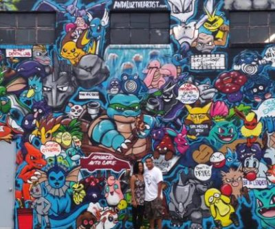 Artist pays tribute to 'Pokemon Go' with mural on 50-foot wall