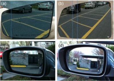 New car mirror avoids 'blind spot'