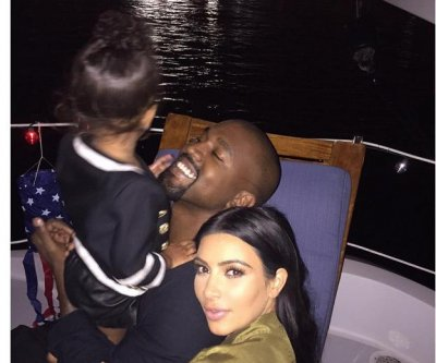 Kim Kardashian celebrates July 4th with North West