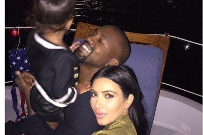 Kim Kardashian celebrates July 4th with North West
