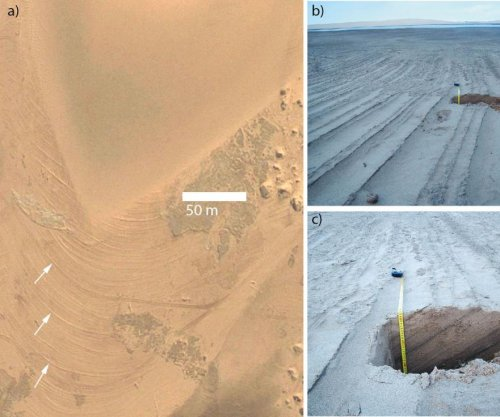 Scientists say Mars valley was flooded with water not long ago