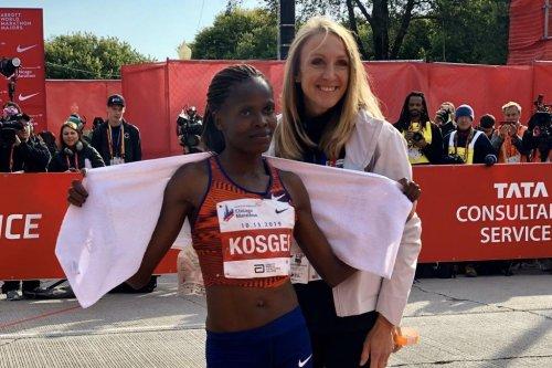 Kenya's Brigid Kosegi sets women's marathon world record in Chicago