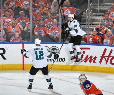 Melker Karlsson's OT goal helps San Jose Sharks steal Game 1 win over Edmonton Oilers