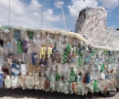 Charity builds boat from bottles washed up on British beaches