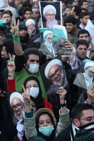 Montazeri service becomes protest rally