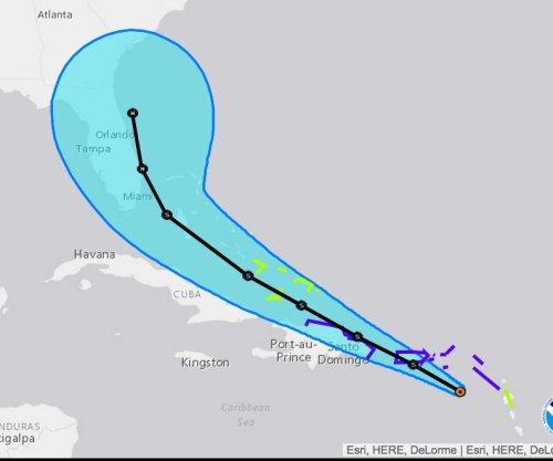 Tropical Storm Erika's forecast track shifts closer to Florida