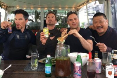 Robert Downey Jr. shares 'Avengers' set photo while on lunch break