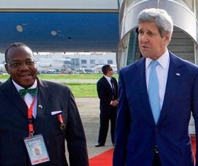 Secretary of State Kerry attends Buhari inauguration as Nigerian president