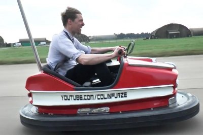 British inventor Colin Furze builds world's fastest bumper car
