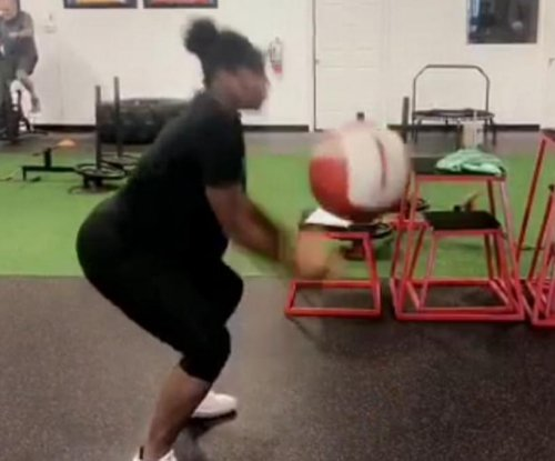 Serena Williams does tough workouts while pregnant