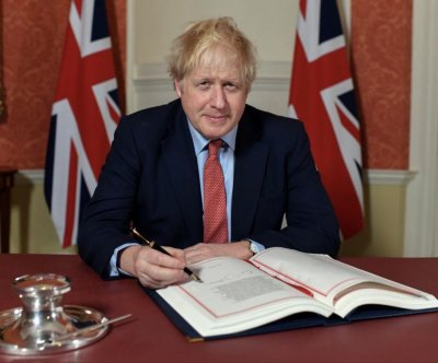 British PM Boris Johnson signs Brexit agreement