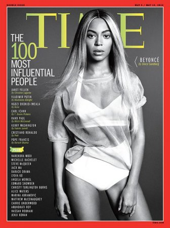 Beyonce covers Time's '100 Most Influencial People' issue