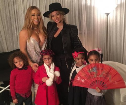 Mariah Carey, Beyonce and their kids pose for group photo