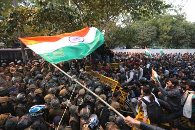 Gunman shoots India student during march against citizenship law