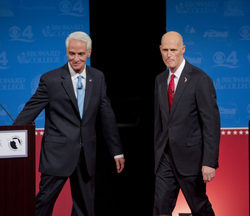 Big gender gap in tight governor races in Florida, Connecticut