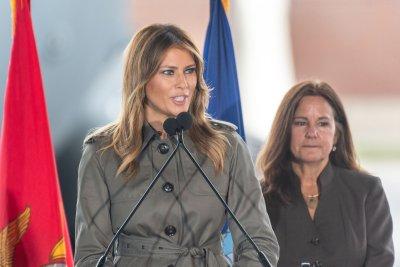Melania Trump, Karen Pence visit students, troops in South Carolina