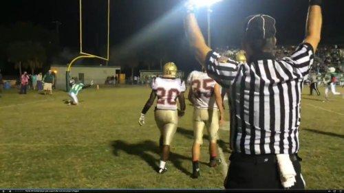 Florida high school football ref draws fire for penalizing praying football player