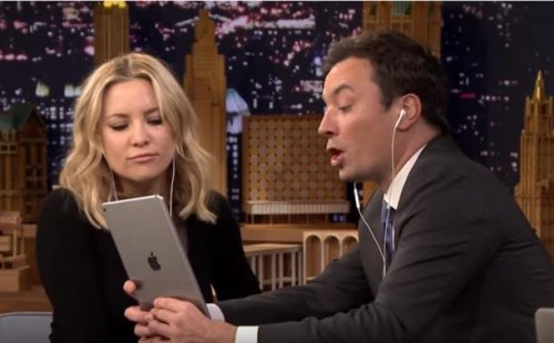 Kate Hudson learns Dubsmash with Jimmy Fallon