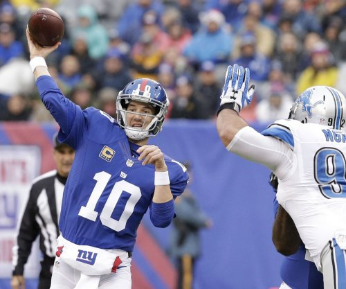 Eli Manning tosses two TDs as New York Giants beat Detroit Lions 17-6