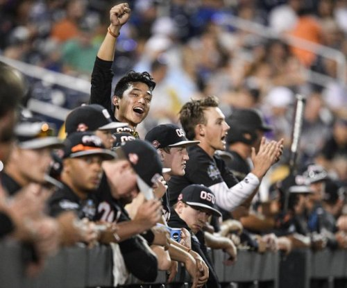 KJ Harrison's grand slam helps Oregon State Beavers rout LSU Tigers in CWS