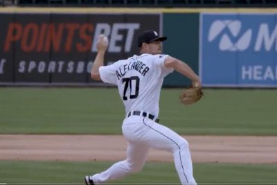 Tigers' Tyler Alexander ties AL record with nine consecutive strikeouts