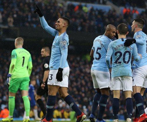 Man City's Gabriel Jesus scores twice in win vs. Everton