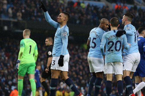Man City's Gabriel Jesus scores twice in win vs. Everton
