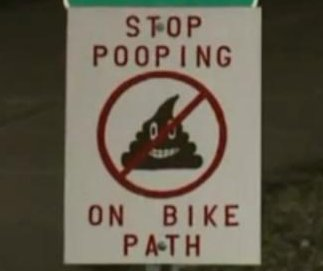 Ill. town's signs tell hikers: 'Stop pooping on bike path'