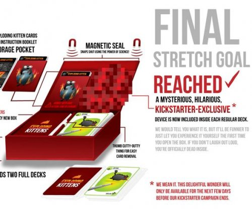 'Exploding Kittens' card game sets Kickstarter record