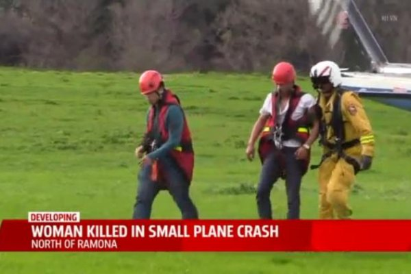 news article woman survived california plane crash dies